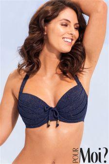 Pour Moi Barcelona Padded Halter Underwired Bikini Top