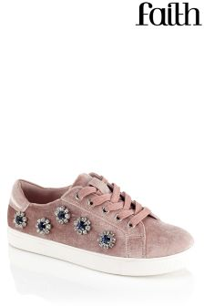 Faith Embellished Trainers