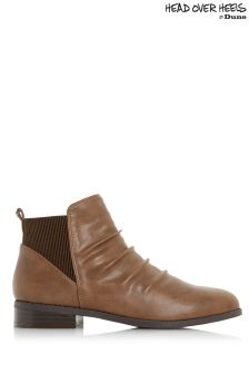 Head Over Heels Ruched Chelsea Ankle Boots