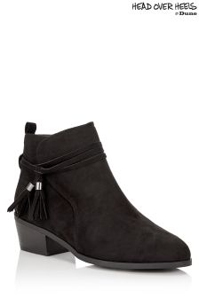 Head Over Heels Tassel Ankle Boots