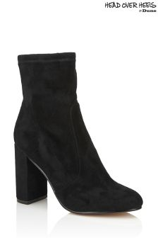 Head Over Heels Suede Sock Boots