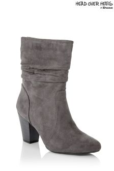 Head Over Heels Ruched Tassel Calf Boot