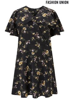 Fashion Union Floral Mini Dress