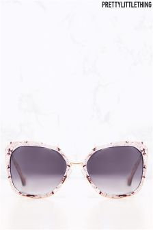 PrettyLittleThing Marble Rim Sunglasses