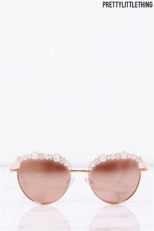 PrettyLittleThing Flower Trim Sunglasses