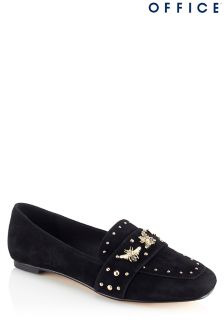 Office Studded Suede Loafers