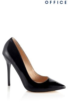 Office Patent Leather Pointed Court Heels