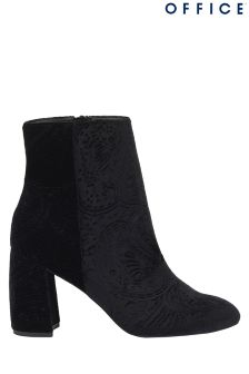 Office Velvet Ankle Boots
