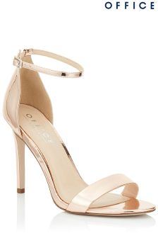 Office Barely There Metallic Sandals