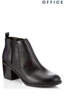 Office Block Heel Chelsea Boots