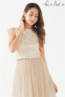 Lace & Beads Embellished Top