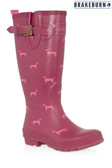 Brakeburn Sausage Dog Print Wellies