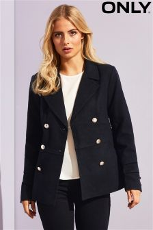 Only Double Breasted Wool Coat