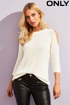 Only Knitted Cold Shoulder Jumper