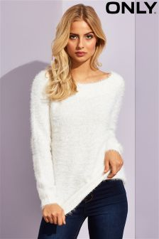 Only Long Sleeved Fluffy Knit Jumper