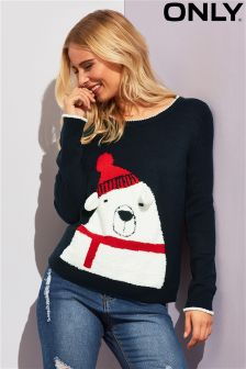 Only Long Sleeved Knitted Christmas Jumper