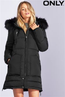 Only Faux Fur Down Coat