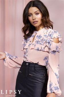 Lipsy Rullo Button Printed Blouse