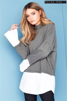 Noisy May High Neck Long Sleeve Jumper