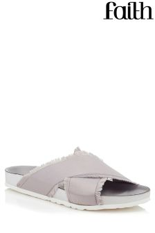 Faith Satin Footbed Sandals