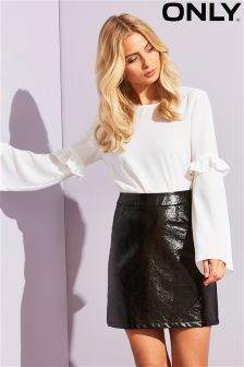 Only Long Sleeve Frill Top