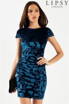 Lipsy Floral Embossed Detail Bodycon Dress