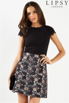 Lipsy Jaquard Skirt A line Dress