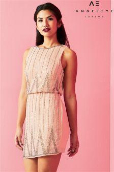 Angeleye Elasticated Waist Embellished Shift Dress