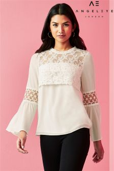 Angeleye Long Sleeve Lace Blouse