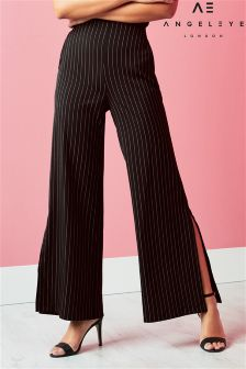Angeleye Pinstripe Wide Legged Trousers