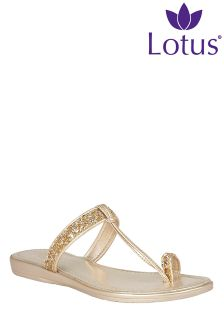 Lotus Glitter Toe Post Sandal