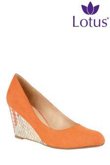 Lotus Wedge Shoe