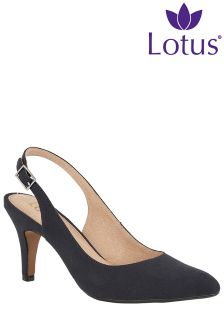 Lotus Slingback Stiletto Shoe