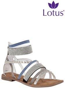 Lotus Strappy Ankle Detailing Sandal