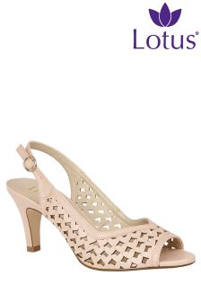 Lotus Peep Toe Sling Back Sandals