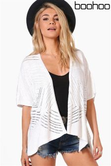 Boohoo Pointelle Batwing Cardigan