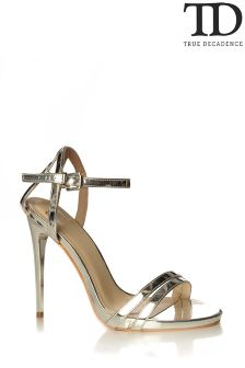 True Decadence Mirror Metallic Sandals