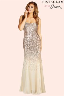 Jessica Wright Sequin Bardot Maxi Dress