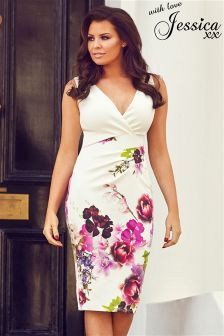 Jessica Wright Floral Wrap Midi Dress