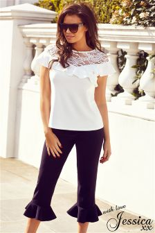 Jessica Wright Frill Trousers