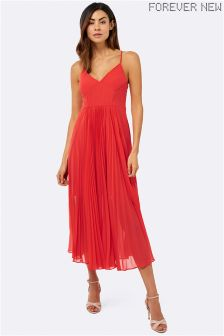 Forever New Pleated Beaded Maxi Dress