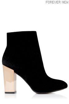 Forever New Velvet Ankle Boots