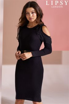 Lipsy Chiffon Sleeve Dress