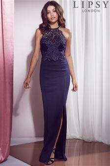 Lipsy Petite Lace Artwork Detail Maxi Dress