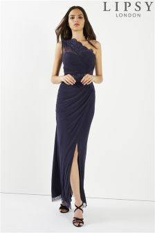 Lipsy Petite One Shoulder Maxi Dress