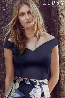 Lipsy Bardot Crop Top