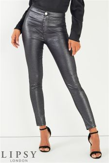 Lipsy High Waist Coated Jeans