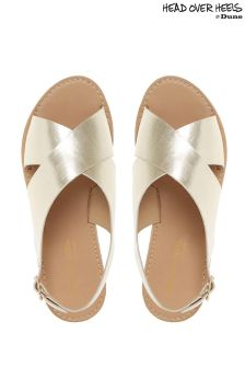 Head Over Heels Cross Strap Flat Sandals
