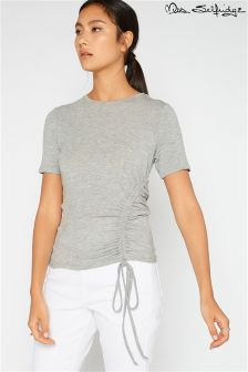 Miss Selfridge Drawstring Hem Rouche Side Tee