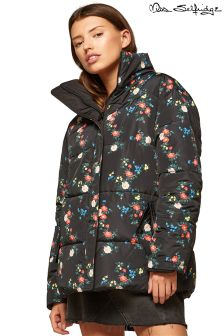 Miss Selfridge Reversible Printed Padded Coat